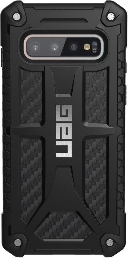 UAG Carbon Monarch Backcover hoesje voor de Samsung Galaxy S10 - Zwart