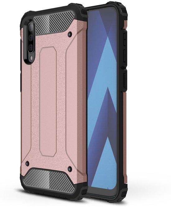 Samsung Galaxy A50 Hoesje - Armor Hybrid - Rose Gold