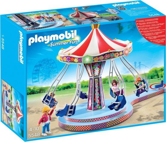 bol.com | Playmobil Kermis Zweefmolen met kleurrijke verlichting ...