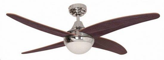 Plafondventilator houtkleur voor 2x E27 lamp incl. afstandsbediening Ø122cm