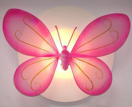 Funnylight Vlinder - Plafonniere - Roze