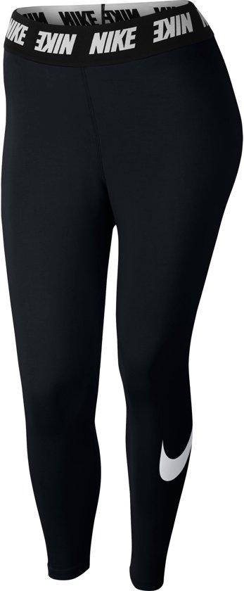 Nike Club Fitnesslegging Dames  Sportbroek - Maat L  - Vrouwen - zwart/wit