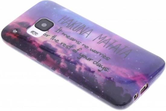 Conception Matata Hakuna Étui En Silicone Tpu Pour La Mini-samsung Galaxy S VZ7QMV
