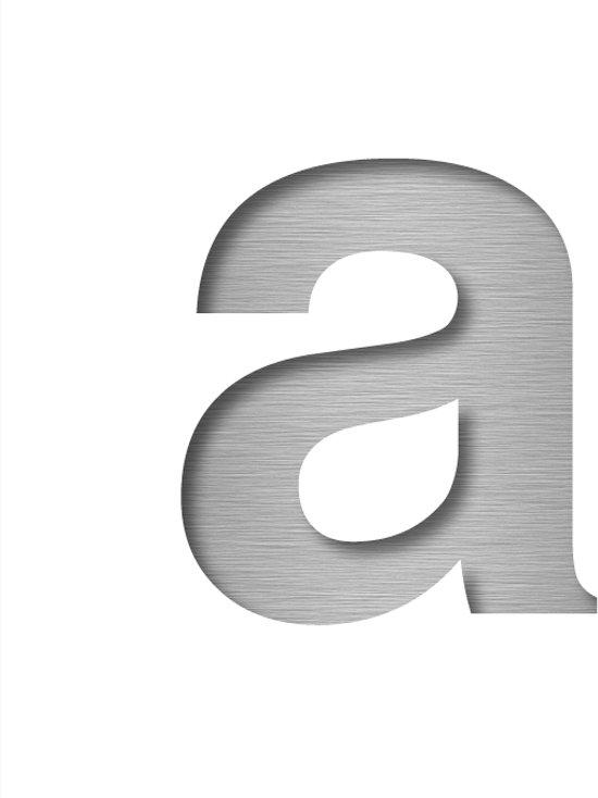 Letter RVS-look | Alu-Line, letter a, Hoogte 30 cm
