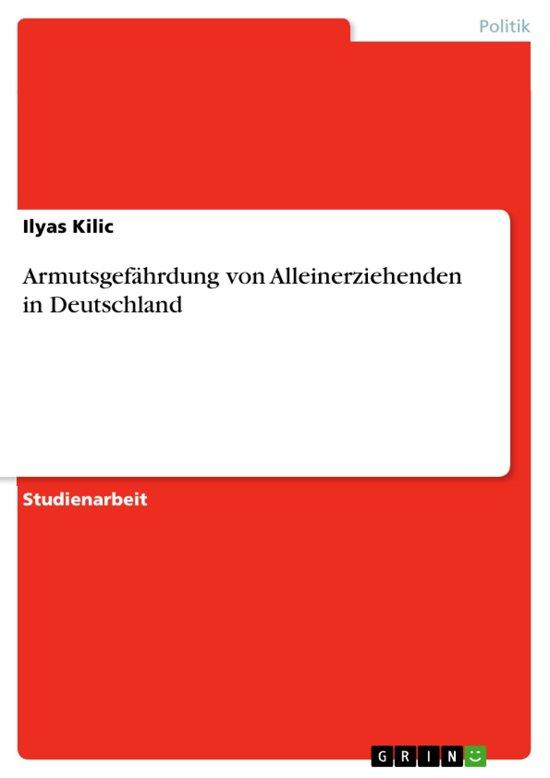 Armutsgefährdung von Alleinerziehenden in Deutschland