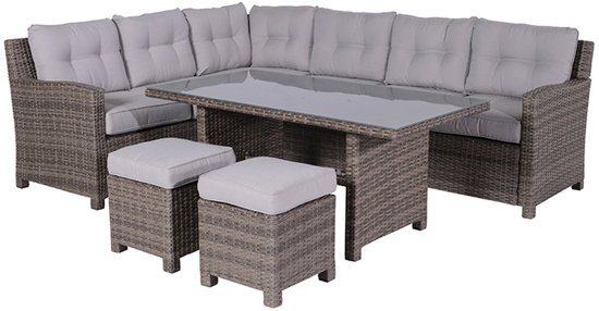 Bol garden impressions blue bird loung dining set