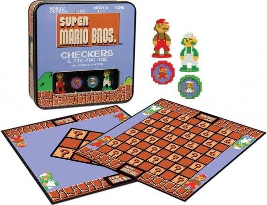 Afbeelding van het spel Super Mario Bros Checkers & Tic-tac-toe Collectors Game Set