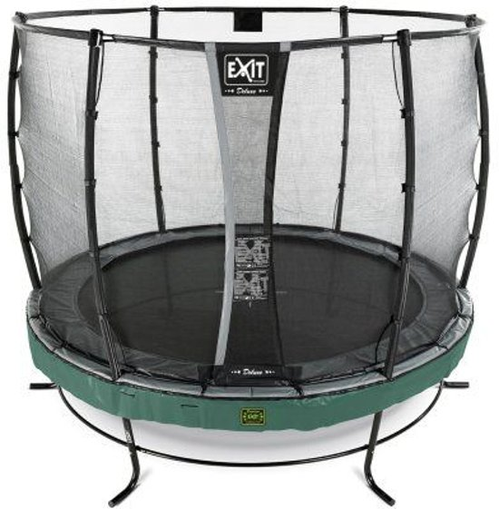 EXIT Elegant trampoline ø305cm met veiligheidsnet Deluxe - groen