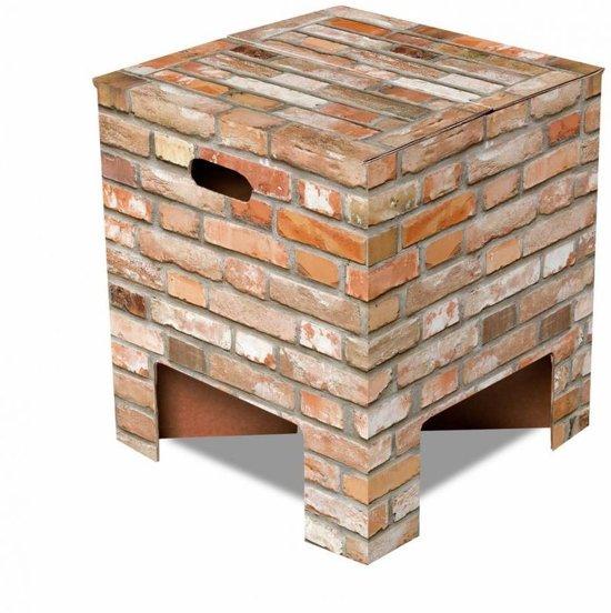 Dutch Design Brand kartonnen krukje - Uitvoering - Stenen - Brick