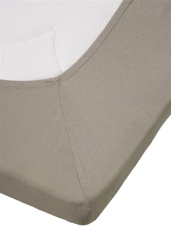 Uitstekende Jersey Topper Hoeslaken Taupe | 160x220 | Heerlijk Zacht En Soepel | Duurzame Kwaliteit