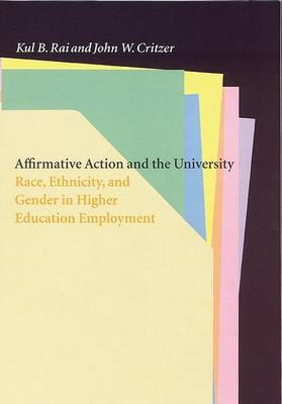 an introduction to affirmative action in higher education Affirmative action in higher education introduction few issues in academia, if any, can provoke so strongly and so quickly the interest of as many people as can the propriety of the.