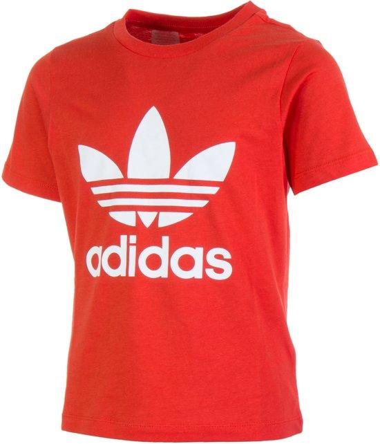 Maat Sportshirt Trefoil Adidas Unisex Originals 122 Roodwit 6BHnqn7xw