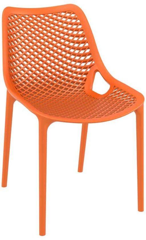 Clp Tuinstoel AIR keukenstoel, stapelstoel - kunststof, stapelbaar - oranje,