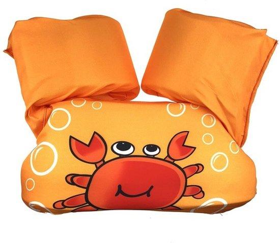 Zwemvest - Krab Oranje Design - One Size - Kind - 14-30 KG - 3-7 Jaar