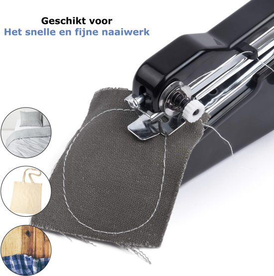 Brandeco™ Handnaaimachine - 16 Delige Accessoires Set - Nederlandse Handleiding - Kleding - Reparatie - Handnaaimachine Mini - Vakantie - Naaien - Repareren - Reis Naaimachine - Elektrisch - Inclusief 4 AA Batterijen