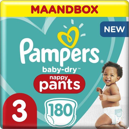 Pampers Baby-Dry Pants Luierbroekjes -  Maat 3 (6-11kg) - Maandbox 180 Stuks