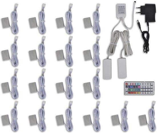 bol.com | RGB LED verlichting kit: 18 st + regelaar ...