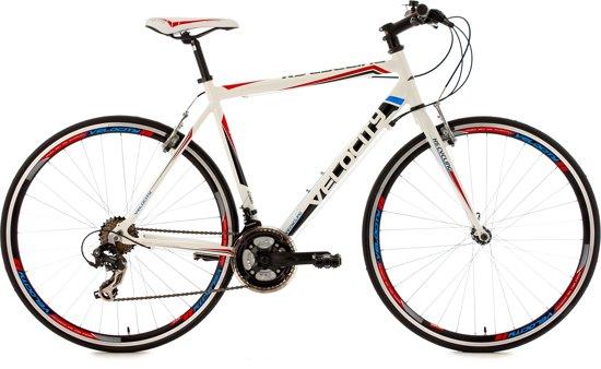 Ks Cycling Racefiets 28 inch fitness-bike Velocity met 21 versnellingen, wit -