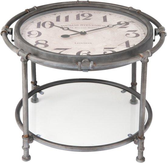 Ronde tafel met een klok 60 x 44 | 5KL0095 | Clayre & Eef