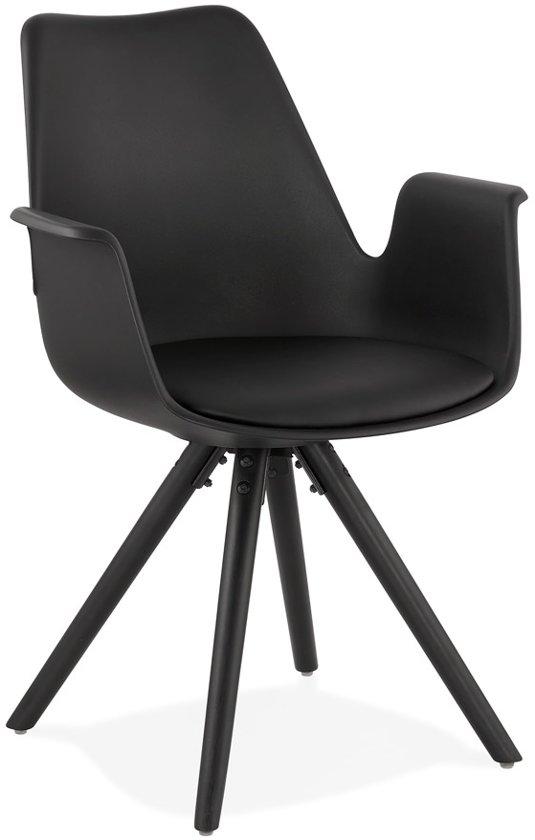 8 Zwarte Design Stoelen.Bol Com Design Stoel Kokliko Zwart Zwart