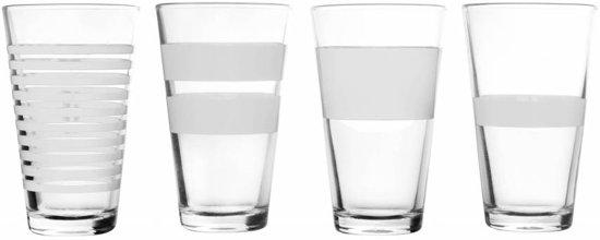 Salt&Pepper Stripeless Longdrinkglas - 325 ml - wit - 4 stuks
