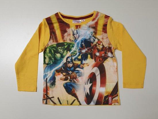 Marvel Avengers sweater / longsleeve geel maat 10 (140cm)
