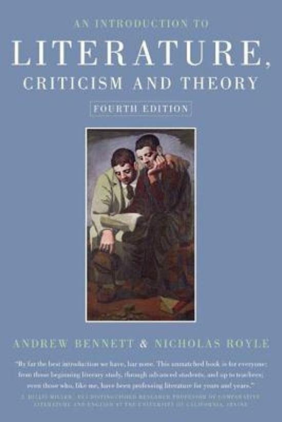 an introduction to the literature by toth and ephron It has all the virtues of culler's very short introduction except extreme brevity an introduction to literature, criticism and theory.