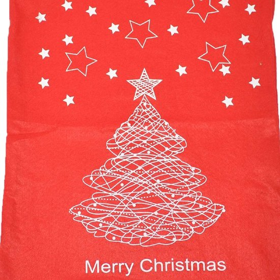 Bolcom Kerst Cadeau Zak Rood Kerstboom