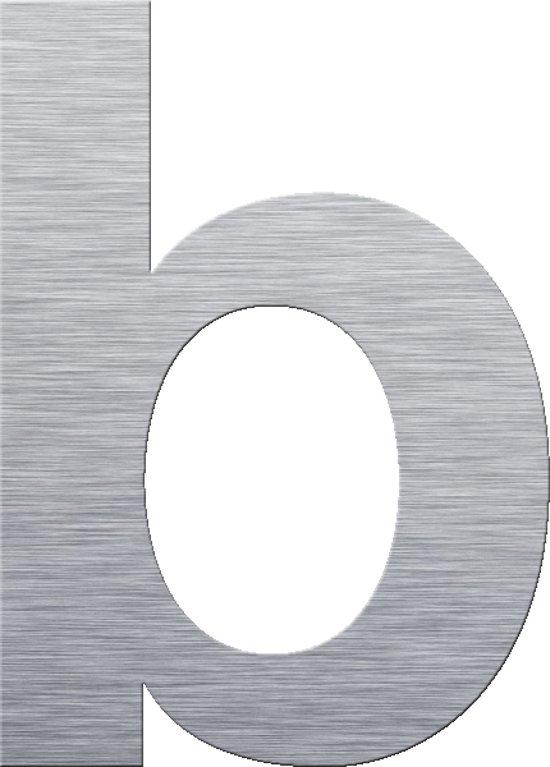 XXL Huisnummer b, 300 mm, RVS