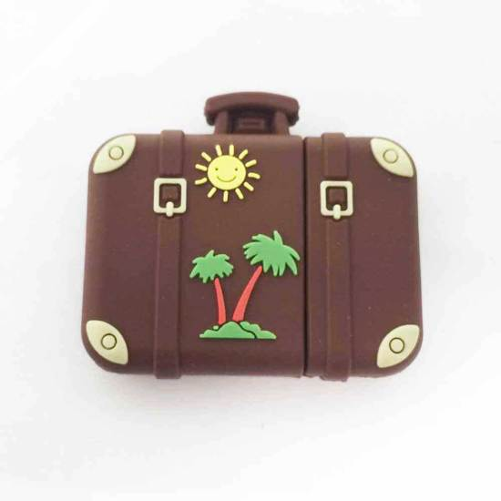 USB stick reis travel koffer zon palmboom retro vintage 16GB