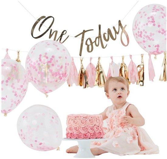 Wonderbaarlijk bol.com   1e Verjaardag Cake Smash pakket Roze Goud - Meisje YD-89