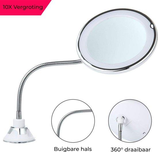 Spiegel Met Zuignap.Bol Com Make Up Spiegel 10x Vergroting Met Verlichting