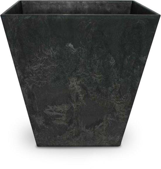ARTSTONE Bloembak ELLA - antraciet grijze steen-optiek - 40x40x40 cm