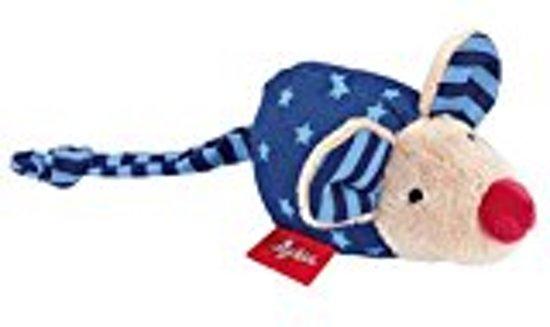 sigikid Mini rammelaar muis blauw Red Stars 49137