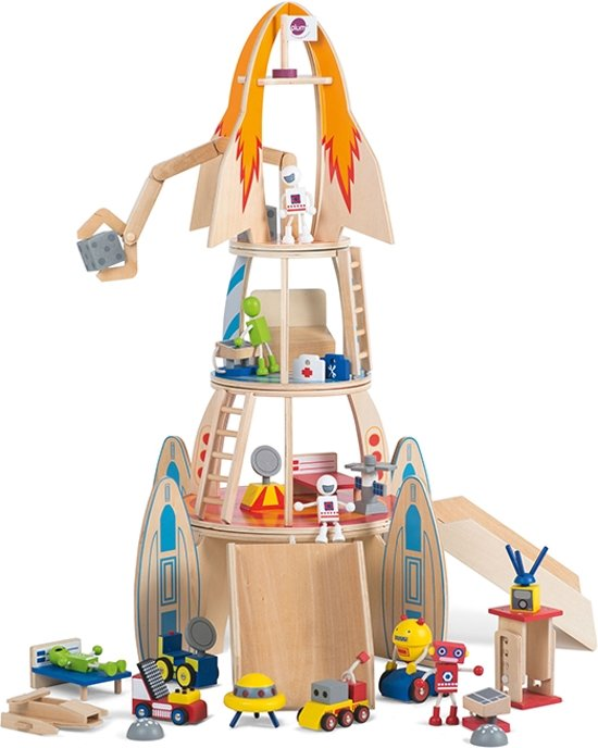 Plum speelset Super Space Rocket hout