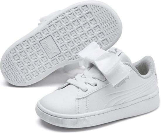 PUMA Vikky v2 Ribbon SL AC Inf Sneakers Kinderen - Puma White-Puma Silver-Gray Violet - Maat 25
