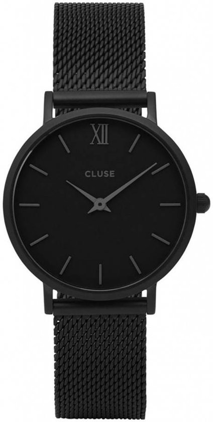 CLUSE CL30011 Minuit Mesh - Horloge - Staal - Zwart - Ø 33 mm