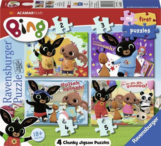 Afbeelding van Ravensburger Bing Bunny - My First puzzels - 2+4+6+8 stukjes - kinderpuzzel speelgoed