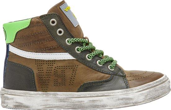 VINGINO GUUS MID Jongens Casual sneaker Groen Maat 33