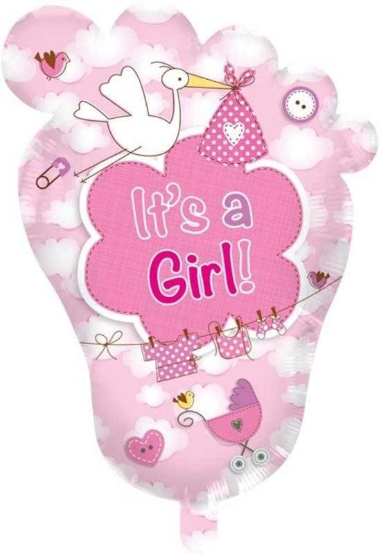 Babyvoetje It's a Girl! geboorteballon