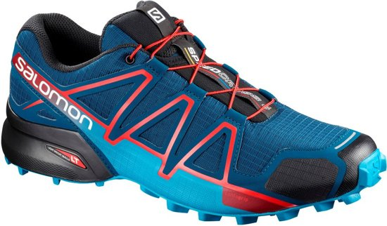 Salomon Speedcross 4 Sportschoenen Maat 42 Mannen donker blauw rood zwart