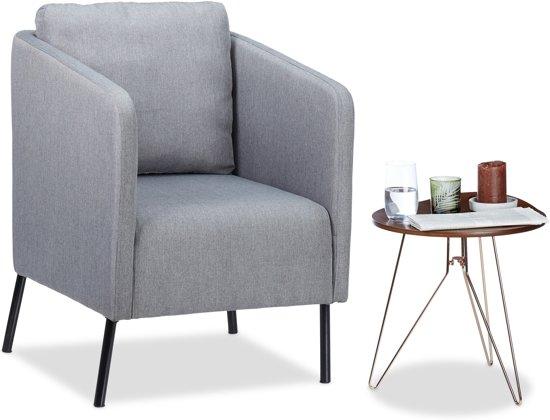 Jaren 50 Stoel : Bol.com relaxdays fauteuil vintage grijs met kussen jaren 50
