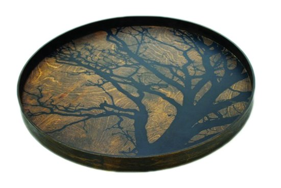 Notre Monde Dienblad Black Tree - Bruin