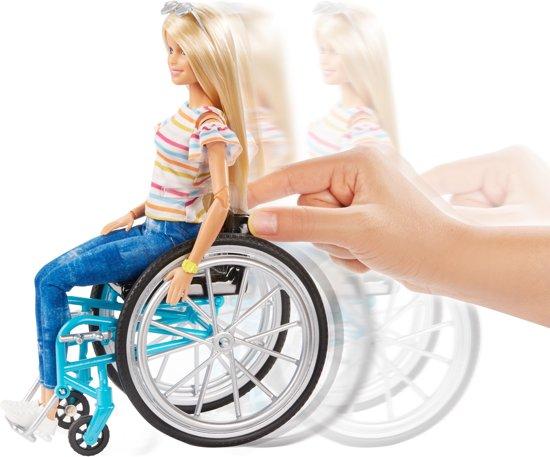 Barbie Fashionistas Blond Haar Met Rolstoel En Accessoires - Barbiepop