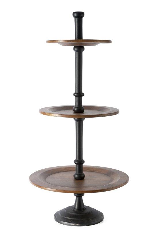 riviera maison chateau etag re etagere bruin zwart hout. Black Bedroom Furniture Sets. Home Design Ideas