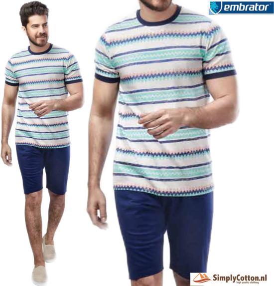 Embrator Huispak / Zomerset / Shortama 2-delig shirt&short 668 blue maat L