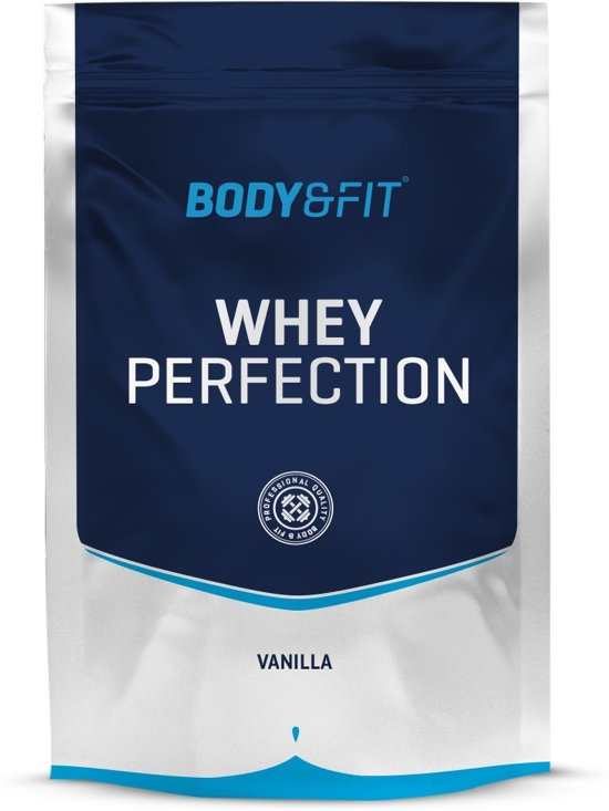 Body & Fit Whey Perfection - Eiwitpoeder / Eiwitshake - 750 gram - Vanilla milkshake