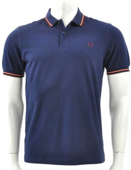 Fred Perry - Slim Fit Twin Tipped Shirt Pique - Heren - maat S