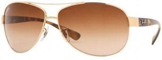 Ray-Ban RB3386 001/13 - zonnebril - Goud-Tortoise / Bruin Gradiënt - 67mm