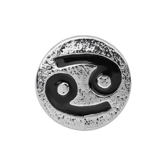 Quiges - Dames Click Button Drukknoop 18mm Horoscoop Kreeft - EBCM265